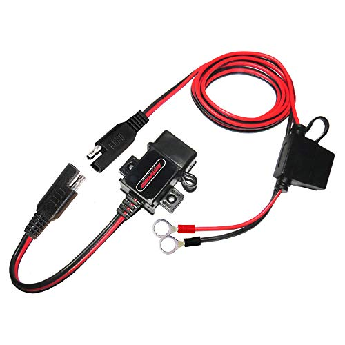 MOTOPOWER MP0609A-UK 3.1Amp Motorcycle USB Charger Kit for Phone