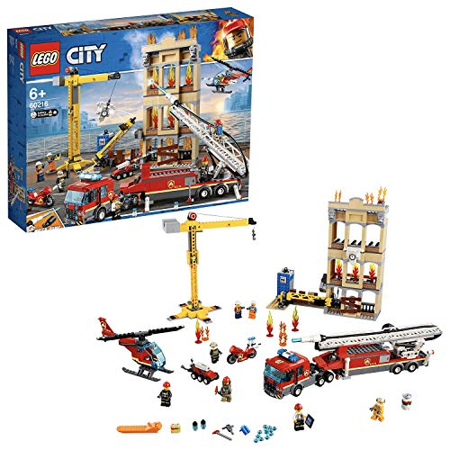 LEGO 60216 City Fire Downtown Fire Brigade with Fire Engine Truck Toy