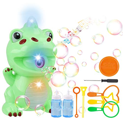 Bubble Machine Dinosaur Bubble Maker Automatic Bubble Blower Fun Bath Bubble Toy for Baby Toddlers Kids Boys Girls Indoor Outdoor Games(2 Bottles of Bubble Solution & Screwdriver Included): Amazon.co.uk: Toys & Games