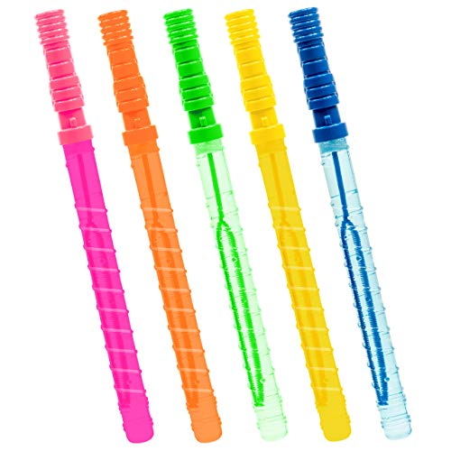 "THE TWIDDLERS Pack of 15 Large Bubble Wands 14"" - Ideal indoor toys for kids for hours of play and entertainment: Amazon.co.uk: Toys & Games"
