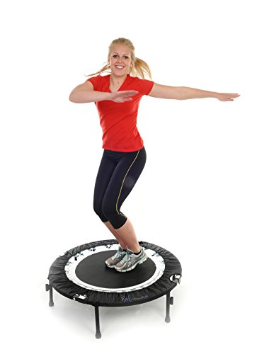Maximus Bounce & Burn Folding Indoor Mini Trampoline Rebounder with Handle for Adults |Fun Way to Lose Weight