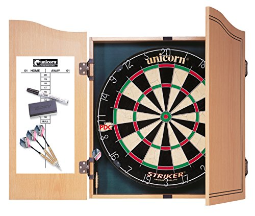 Unicorn Striker Home Darts Centre including Dartboard and Cabinet