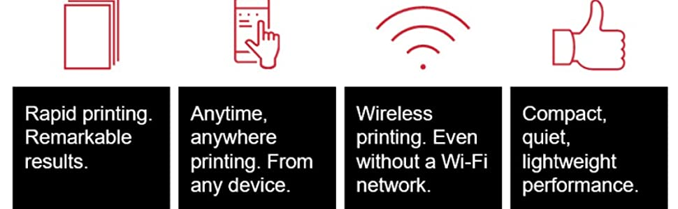 remarkable results rapid printing print anywhere WIFI wireless compact lightweight